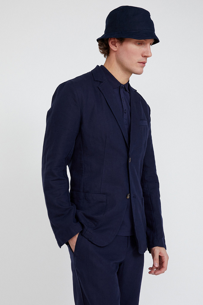 Пиджак мужской Finn Flare, цвет темно-синий, размер 3XL - фото 2
