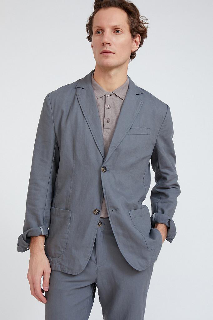 Пиджак мужской Finn Flare, цвет серый, размер L - фото 1