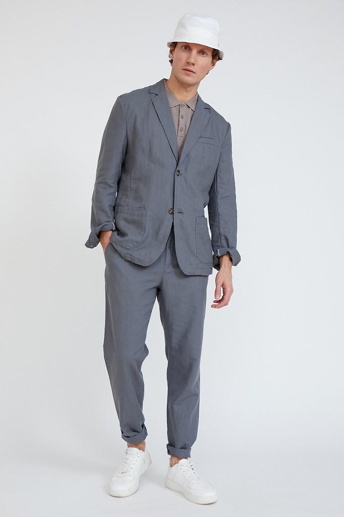 Пиджак мужской Finn Flare, цвет серый, размер L - фото 2