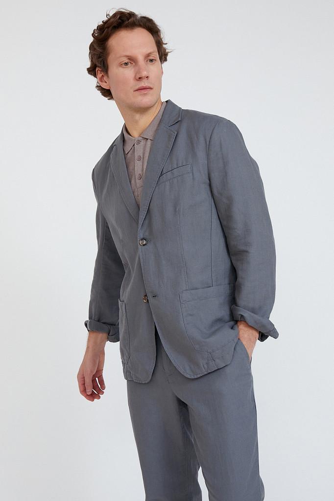 Пиджак мужской Finn Flare, цвет серый, размер L - фото 3