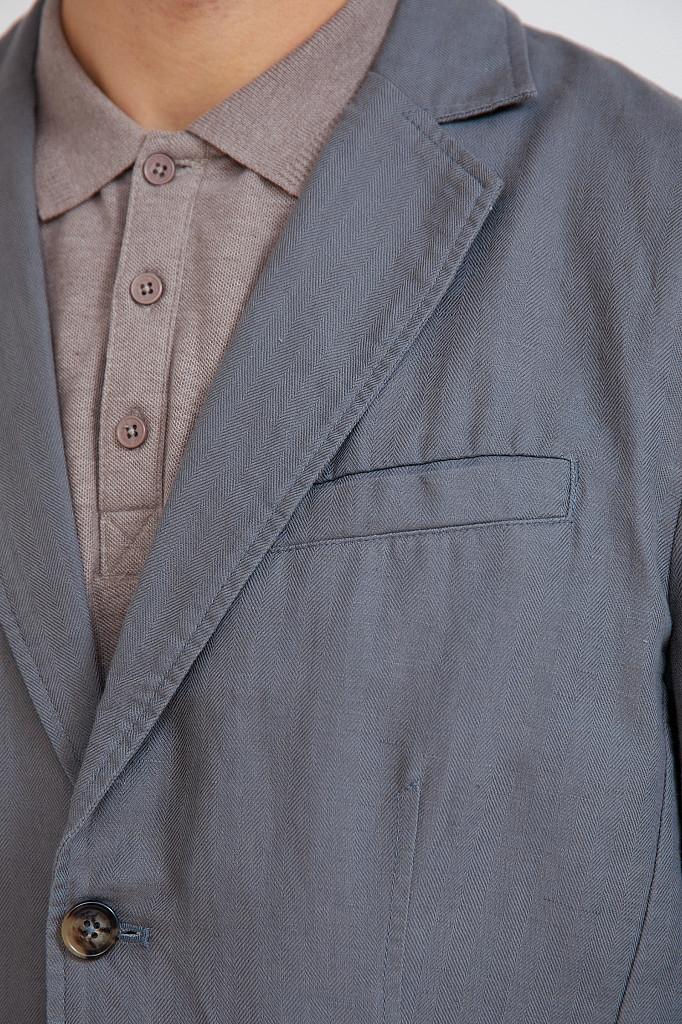 Пиджак мужской Finn Flare, цвет серый, размер L - фото 5