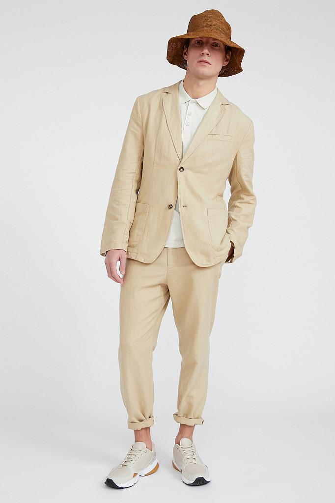 Пиджак мужской Finn Flare, цвет песочный, размер 3XL - фото 2