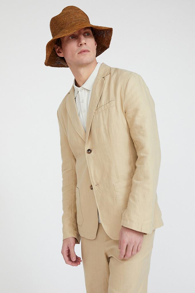 Пиджак мужской Finn Flare, цвет песочный, размер 3XL - фото 3