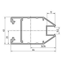 Профиль алюминиевый экструдированный AYPC.111.0105