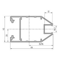 Профиль створки дверной алюминиевый экструдированный AYPC.111.0106