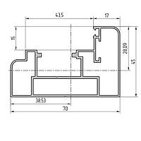 Комплект профиля рамы алюминиевый экструдированный AYPC.111.0107