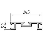 Профиль держателя уплотнителя алюминиевый экструдированный AYPC.111.0601
