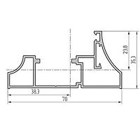Комплект профиля рамы облегченный алюминиевый экструдированный AYPC.111.0115