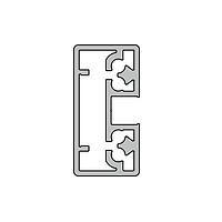 Профиль створки дверной Slim алюминиевый экструдированный AYPC.111.0117