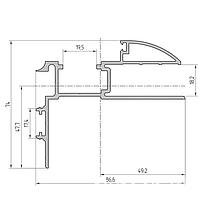 Комплект профиля дверной рамы телескопической для проема 75-105 мм (наличник полукруглый) AYPC.111.0110