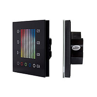 Панель Sens SR-2831AC-RF-IN Black (220V,RGB,4зоны) (arlight, IP20 Пластик, 3 года)