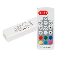 Контроллер ARL-MINI-RGB-3x4A (5-24V, RF ПДУ 18кн) (arlight, IP20 Пластик, 1 год)