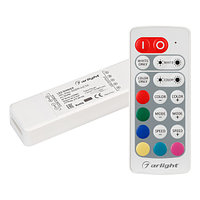 Контроллер ARL-MINI-RGBW-4x2.5A (5-24V, RF ПДУ 20кн) (arlight, IP20 Пластик, 1 год)