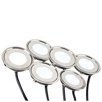 Набор KT-R-6x0.5W LED Warm White 12V (круг) (arlight, IP67 Металл, 1 год)