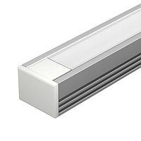 Профиль с экраном PDS-S-2000 ANOD+OPAL (arlight, Алюминий)
