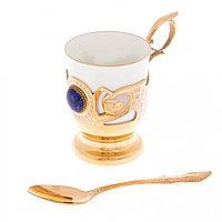 """Чашка для кофе """"Лазурит"""" фарфор 170 мл в подарочной коробке Златоуст"""
