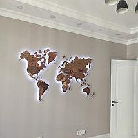 Карта Мира 2 метра с подсветкой