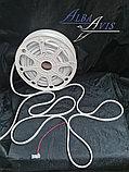 Гибкий неон 12*6 мм. 12 v.  Бухта - 50 метров. Цвет шнура как и цвет свечения. Flex neon для рекламы. Белый, фото 2