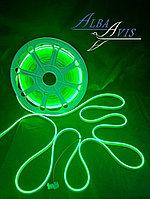 Гибкий неон 12*6 мм. 12 v. Бухта - 50 метров. Цвет шнура как и цвет свечения. Flex neon для рекламы. Зеленый