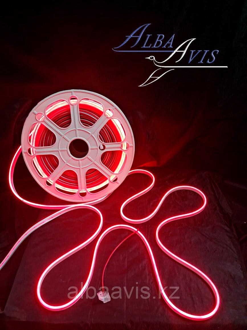 Гибкий неон 12*6 мм. 12 v.  Бухта - 50 метров. Цвет шнура как и цвет свечения. Flex neon для рекламы. Красный