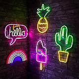 Гибкий неон 12*6 мм. 12 v. желтый  Бухта - 50 метров. Цвет шнура как и цвет свечения. Flex neon для рекламы., фото 4