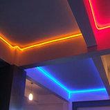 Гибкий неон 12*6 мм. 12 v. желтый  Бухта - 50 метров. Цвет шнура как и цвет свечения. Flex neon для рекламы., фото 8