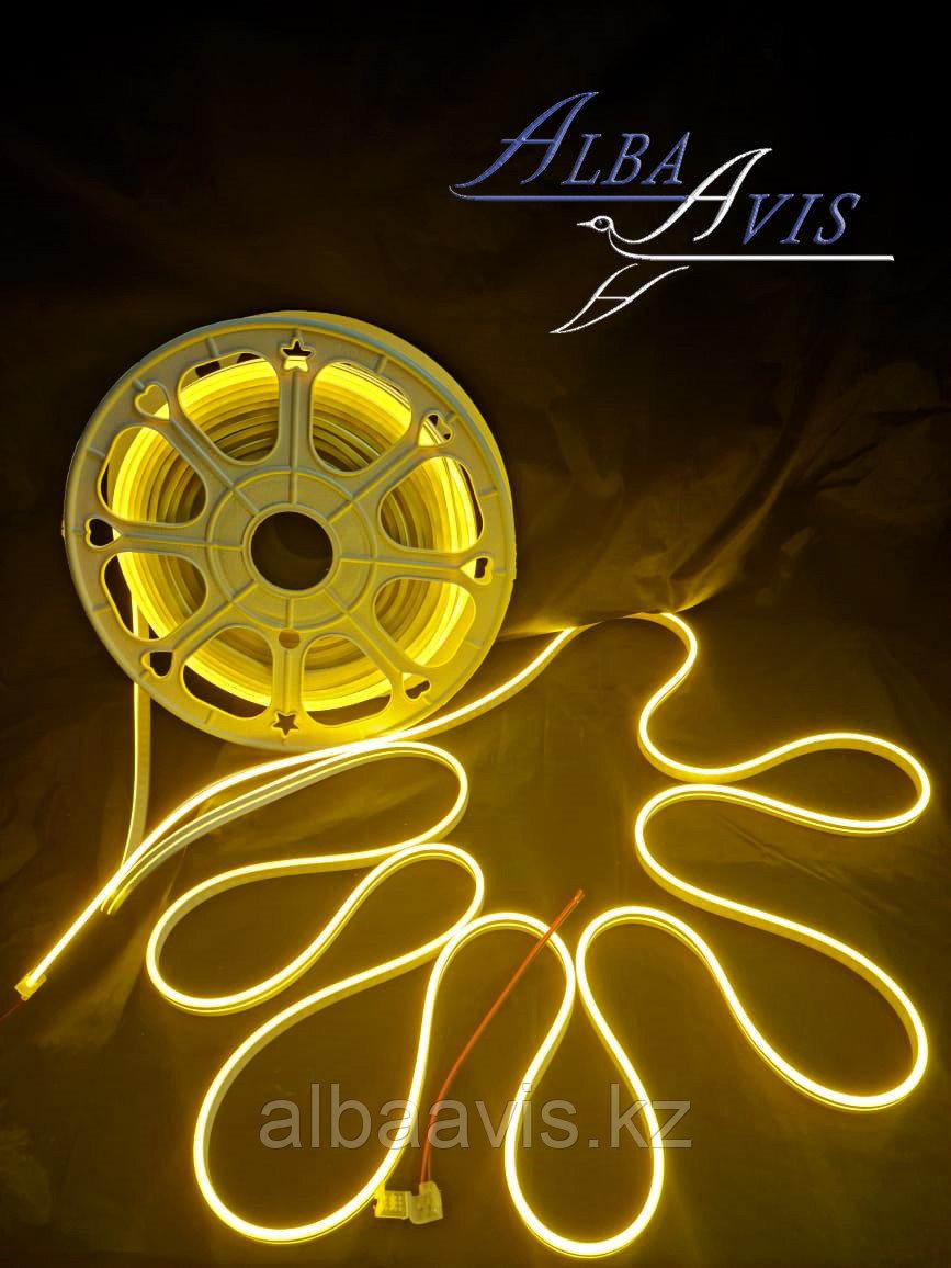 Гибкий неон 12*6 мм. 12 v. желтый  Бухта - 50 метров. Цвет шнура как и цвет свечения. Flex neon для рекламы.