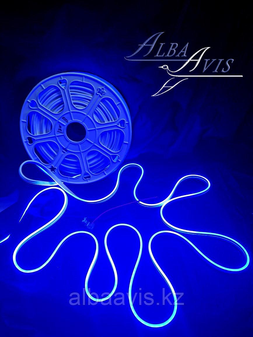 Гибкий неон 12*6 мм. 12 v. синий. Бухта - 50 метров. Цвет шнура как и цвет свечения. Flex neon для рекламы.