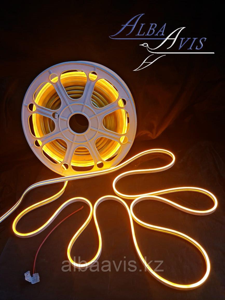 Гибкий неон 12*6 мм. 12 v. оранжевый  Бухта-50 метров. Цвет шнура как и цвет свечения. Flex neon для рекламы.
