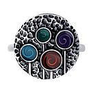 Кольцо DIAMANT ( SOKOLOV ) из черненного серебра, эмаль 95-110-00378-1 размеры - 20, фото 2