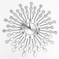 """Часы настенные, серия: Ажур, """"Зеркальные лепестки"""", плавный ход, 59 х 59 см, d циферблата=22 см 1586"""