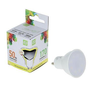 Лампа светодиодная ASD, MR16, 5.5 Вт, GU10, 470 Лм, 3000 К, теплый белый