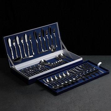 Набор столовых приборов «Торжество», 60 предметов, толщина 2 мм, декоративная коробка