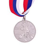 Медаль тематическая «Парные танцы», серебро, d=3,5 см