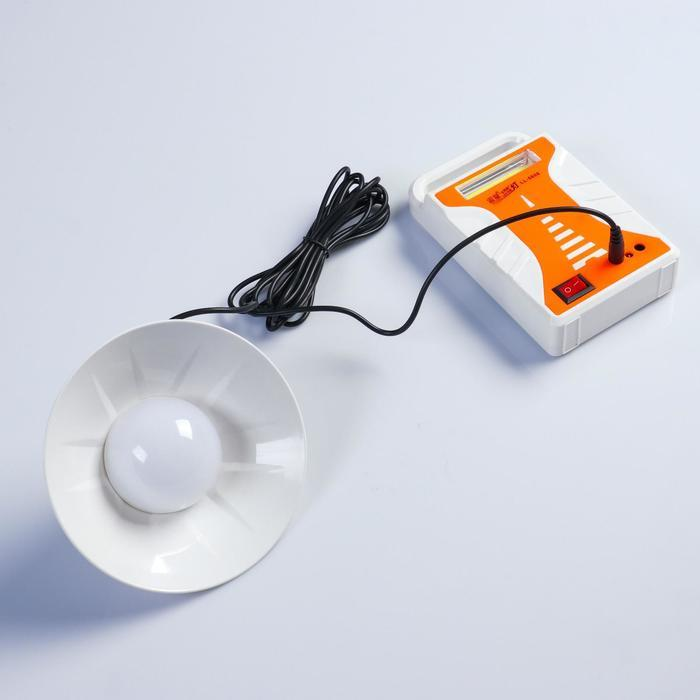 Фонарь аккумуляторный, с переноской лампы, выход USB, от сети, 15х5 см, микс