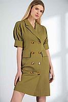 Женское летнее зеленое платье Vladini DR1140 46р.