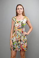 Женское летнее трикотажное платье Mita ЖМ275 луговые_цветы 46р.