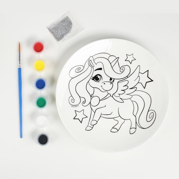Набор для творчества. Роспись тарелки «Волшебный единорог» - фото 2