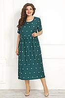 Женское летнее из вискозы большого размера платье Solomeya Lux 819 зелень 48р.