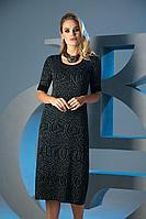 Женское осеннее трикотажное черное нарядное платье Barbara Geratti by Elma 2780 черный 42р.
