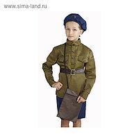 """Костюм военного """"Лётчица"""", 8-10 лет, рост 140-152 см"""