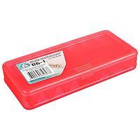 Коробка для воблеров и балансиров ВБ-1, цвет красный, 2-сторонняя, 7+7 отделений, 190 × 85 × 35 мм