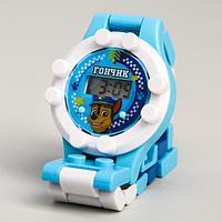 """Щенячий патруль. Часы наручные лего """"Гончик"""", с ремешком-конструктором, PAW PATROL"""