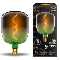 Лампа светодиодная филаментная Gauss Filament Flexible 5Вт V140-DC 1800К E27 200лм 140х200мм роз. 1010802105