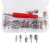 Набор ниппелей с ключом для авто кондиционера (50 штук)