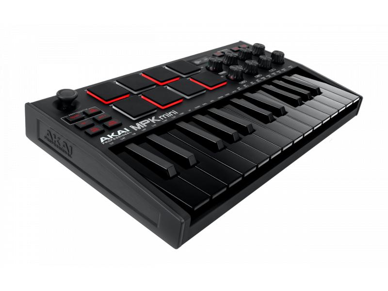 AKAI MPK MINI 3 BLACK USB/MIDI-КЛАВИАТУРА КОНТРОЛЛЕР С 8 ПЭДАМИ