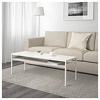 Стол журнальный /2-сторон столешница НИБОДА под бетон/белый 120x40x40 см ИКЕА, IKEA