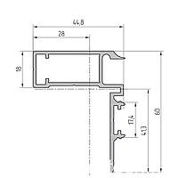 Доборный профиль дверной рамы алюминиевый экструдированный AYPC.111.0111