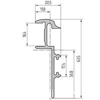 Профиль рамы алюминиевый экструдированный AYPC.111.0107 для обрамления торца