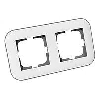 Рамка 2-ая LOFT белый+серый